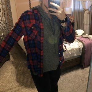 Red & Blue Forever 21 Flannel